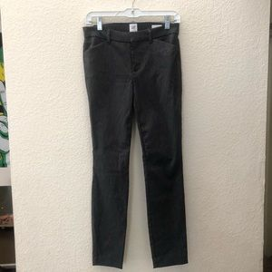 GAP signature skinny ankle charcoal-gray pants 2